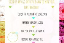 Crate Crochet Monthly Boxes / What's in our subscription boxes every month!  Surprise!!