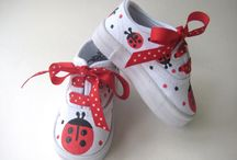 Shoes - Insect tekkies / insects - bees, ladybirds etc