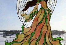 vitraž anjel