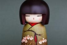 Japońskie laleczki  kokeshi