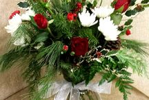 Christmas and Winter Holiday Arrangements / Our holiday flowers