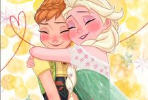 Disney Princesas. Elsa y Anna / Rapunzel / Merida/ Vaiana
