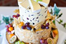 Wedding Cheese Cake / Not everyone likes a sweet cake at a wedding, which is where the wedding cheese tower comes in. It goes far better with wine and beer, and certainly gets guests mingling and discussing their favourite cheese board choice.