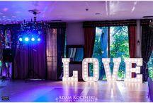 Napis LOVE na wesele / dekoracja weselna - wielkie LOVE