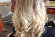 Light blond ombre