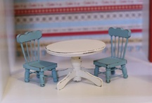 Dollhouses and furniture
