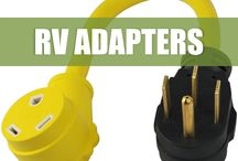 RV Camp Power Adapters / We carry all adapters that any RV'er would need on their adventures. Straight blade to locking, for inlets or not. Check out our adapters...
