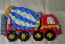 hama beads cars etc.