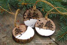 Naturalne/drewniane dekoracje Boże Narodzenie