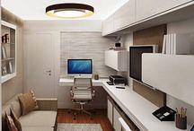 Home Office / Ideias e dicas para decoração e design de interiores de home office.