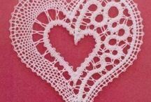 Láska - love / bobbin lace