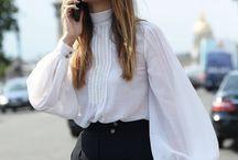 White puffy blouse
