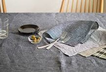 Kitchen Linens / Beautiful kitchen linen for the stylish home by Kikusumi