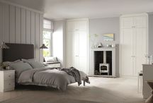 Modern Heritage / Painted wood in heritage tones and neutral furniture and accessories in whites, greys and taupe complete the look.