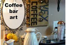 coffee bar ideas / by Shirley Smith