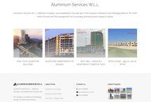 Aluminium Services | Web Project / A wordpress website developed by Urbansoft Technologies W.L.L for one our prestigious Bahrain client