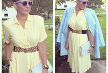 Granny Glam / Thrifted dress and coat Express belt  Aldo pumps Hot topic sunglasses Vintage earrings