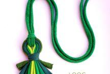textil jewelery