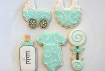 bebek şekeri ve kurabiyeleri