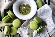 Macarons / Green tea
