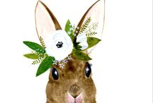Animal with Flowers