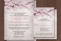 Cherry Blossom Weddings / Wedding ideas, products, and planning all with a cherry blossoms theme.