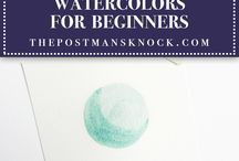 Tutorial for painting with watercolor