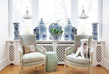 True Classic &  Chinoiserie / Chinoiserie - blue-and-white porcelain, foo dogs and ginger jars, bamboo-inspired furnishings - have never gone out of fashion! An enduring style!