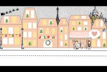Merry Christmas from J&L Paris! / #Christmas #gift #holidays #Paris #illustration #paganini