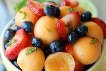 Gourmet salade et fruit