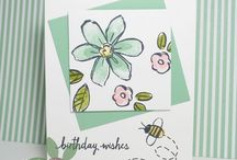 garden in bloom / Stampin up Stamp Sets quick & Easy cards using stampin up stamps and punches featuring many of your favourite stamp sets and punches, including sprinkles of life, wetlands, petite petals, lovely as a tree, painted petals, sheltering tree, butterfly basics etc.