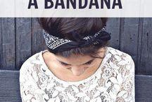 Bandana / bandana's om in je haren te dragen