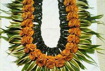 Rangkaian bunga leher utk sambut tamu