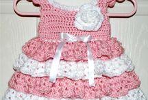 Baby kjoler hæklede