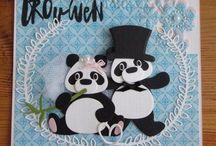 Kort med panda