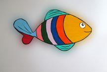 Imãs de geladeira - Peixes / Magnets - Fishes / Handmade Magnets for sale - Imãs pintados à mão para vender (Sem frete para o Brasil). Custo: R$ 5,00 a peça. Contato: @suacamp ou https://www.facebook.com/iris.azevedo.14