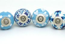 New Sets of 6 handpainted mixed ceramic door knobs / Mixed sets of 6 ceramic door knobs ideal for upscaling projects