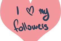 Followers N Thank YOu / by Sadie Murray