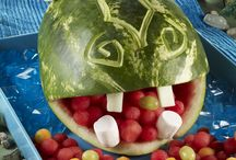 Watermelon carving party