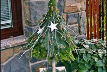 Weihnachtsbäume verkehrt herum