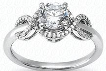 Halo-Style Engagement Rings / This is a small sample of the Halo-Style Engagement Rings we offer. Stop in to see the other shapes, colors & sizes available to fit in your budget. Shop online: http://www.classiccreationsjewelers.com