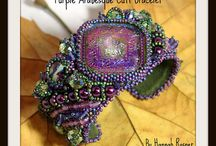 Bead Embroidered Bracelets by Hannah Rosner