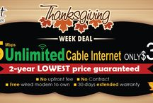 Cable Internet -Thanks Giving Offers Ontario