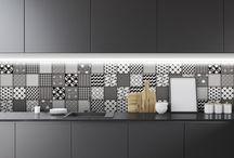Black & White   Ceramic Tile /  #egeseramik #perfectbeauty  #ceramic  #tiles #design #bw #black #white