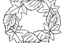 őszi dekorációs sablonok