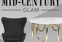 Retro-Glam / The vintage glam design style is a little more rock 'n' roll, a little bit bohemian, with a flair for the eccentric. It manages to be retro without looking tired or outdated. Several key ingredients for retro glam rooms might be a sheepskin rug (faux or not), a crushed velvet armchair or metal-studded wingback, and anything gold or silver, like a glass coffee table with metallic edges. Add an iconic arc lamp too for good measure! Inspirations: Flappers; Twiggy