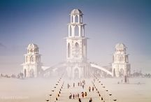 Burning Man / A yearly event of creations from artists who gather to light up the night.