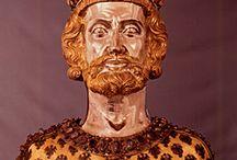 het leven van Karel de Grote / over Karel de Grote en wat hij allemaal deed.