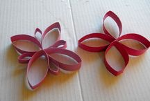 RECYCLED PAPER FLOWERS TO DECORATE THE WALL