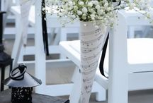 Music note wedding decor